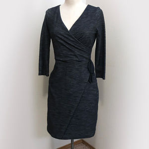 Dark Blue Wrap Dress